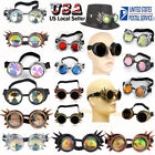 US SELLER Vintage Style Steampunk Goggles  Welding Cyber Gothic Cosplay Retro