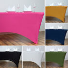 6 pcs 6 ft RECTANGLE SPANDEX STRETCH TABLE COVERS Fitted ...