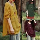 ZANZEA Retro Mori Gil Autumn Loose Casual Blouse Tops Long Sleeve Shirt Pullover
