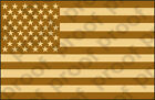 STICKER PATRIOTIC USA FLAG DESERT COLOR