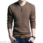 Mens V Neck Sweater Men Long Sleeve Shirt Sweaters Wool Casual Cashmere Knit