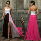 SELL! Chiffon Strapless Formal Evening Cocktail Wedding Party Long Prom Dresses