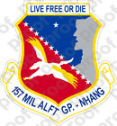 Sticker Usaf 157th Military Airlift Group