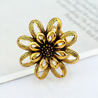 Sale Women Vintage Jewlery Flower Trycyclic Scarf Clip Ring Buckle