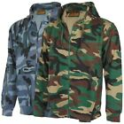 Mens Mans Zip Up Camo Hoody Hooded Army Camouflage Top Hoodie Sizes S - 5XL