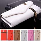 New PU Leather Zipper Wallet Phone Case Cover Card Holder For iPhone 6 and 6plus
