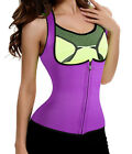 Neoprene Waist Trainer Vest Fat Burner For Women Weight Loss With Zipper Shaper