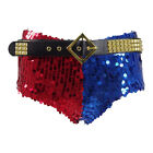 """Harley Quinn Womens Cosplay Costume Midrise/Cheeky """"Shattered Glass"""" Shorts"""