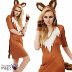 Adults Ladies Urban Fox Animal Book Day Week Womens Fantastic Fancy Dress Outfit