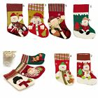 Cotton Navidad Calcetines Papá Noel Colgar Regalo Bolso Stock Decor Party Adorno