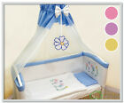 Set Wooden baby cot 4in1 white, wheels cradle, bedside bed CO SLEEPER + mattress