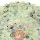 "Natural Prehnite Faceted Coin Shape Gemstone Loose Beads 15"" 10mm 12mm 14mm 16mm"