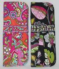 VERA BRADLEY STRAIGHTEN UP & CURL CURLING IRON COVER PINK SWIRLS OR MOON BLOOMS