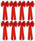 "Red Velvet Christmas Bows 26"" Long 10"" Wide 10 Loop Holiday Bow - 2, 4, 8 Packs"