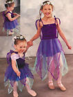 Dance Costume Star Fairy Dress w/ Attached Wings Pixie Halloween Child Large