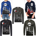 Season's Greetings Mens Womens Christmas Jumper 3D Novelty Knitted Pullover Top
