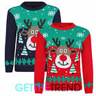 Childrens Christmas Jumper Boys Girls Reindeer Xmas Knitted Sweater Pullover New