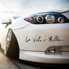 1x Fashion Cool Life is Beautiful La Vita E Bella Wall Decal Car Styling Sticker