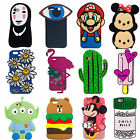 Cactus Cartoon Mario Soft Silicone Rubberized Defender Case Cover For iPhone