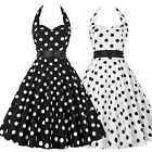 Retro Women Polka Dot Swing 1950s Housewife Pinup Vintage Rockabilly Party Dress