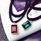 Girls Vintage Square Retro Droplets Necklace Choker Fashion Simple  Necklace Hot