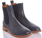 NEW-CHLOE-Dark-Blue-Leather-SlipOn-Ankle-Boots-MSRP-79500