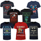 Adults DC Comics Superhero Theme Christmas T Shirts New Festive Xmas Tee Top