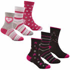 Girls EAUM 3 Pack Cotton Rich Patterned Socks 43B469