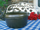 Griswold Cast Iron #8 Tite-Top Dutch Oven with Matching Lid – Cleaned and Season