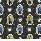 Star Trek Spock And Captain Kirk Character Oval Badges 100% Cotton Fabric