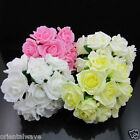 """10 Heads Colorfast Stem FOAM ROSEs for WEDDING BOUQUET LARGE SIZE 2.5""""-3"""""""