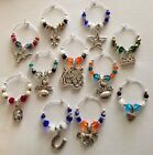 football wine glass charms pick your favorite team set of 4