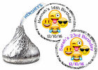 216 EMOJI BIRTHDAY PARTY FAVORS HERSHEY KISS KISSES LABELS