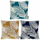 "PALM LUXURY TROPICAL PALM TREE EMBROIDERED CUSHION COVER  17"" x 17"" 43cm x 43cm"