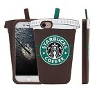 iPhone SE/6/6Plus/7/7 Plus Cute 3D Starbucks Brown Coffee Cup Soft Silicone Case