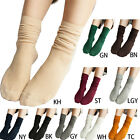 Woman Loose Socks Cotton Female Knitting Stocking Sock Solid Color Fashion Fold
