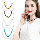 Fashion Women Natural Stone Chips Gemstone Quartz Crystal Beads Necklace Jewelry