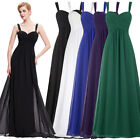 New Straps Long Chiffon Evening Formal Party Cocktail Dress Bridesmaid Prom Gown