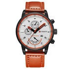 Luxury Curren Men's Date Quartz Analog Leather Strap Mens Casual Wrist Watch_US
