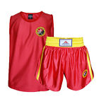 Unisex Muay Thai Boxing Embroidered Dragon Shorts and Tops Gym Training Suit