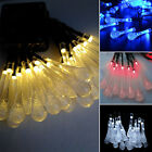 LED Solar Water Drop String Light For Christmas Party Garden Tree Decorative MO
