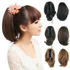 Charming Chic Lady Ponytail Hair Short Wavy Curly Clip in/on Hairpiece Extension
