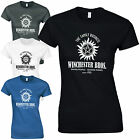 Winchester Bros. Ladies Fitted T-Shirt Supernatural Brothers Sam Dean Bobby Top