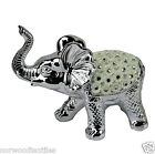 Silver Mille Elephant Shaped Diamante Resin Home Decoration Gift Ornaments