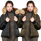 Brave Soul Marcello Designer Womens Bomber Jacket New Ladies Hooded Padded Coat