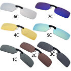 Sunglasses Polarized Clip On Flip-up Driving Glasses Day Night Vision Lens UV400