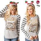 Fashion Women Ladies Casual Cotton Long Sleeve Striped Loose Shirt Blouse Tops