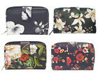 Ladies quality Soft Floral Card Holder Zip Coin Purse