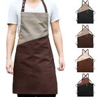 Unisex Adjustable Kitchen Chef Apron W/ Pocket Bib Apron Cooking Crossback Strap
