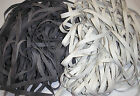 "20 yds of Grey or White 5/16"" Wide Powdered Rubber Swimsuit Elastic"